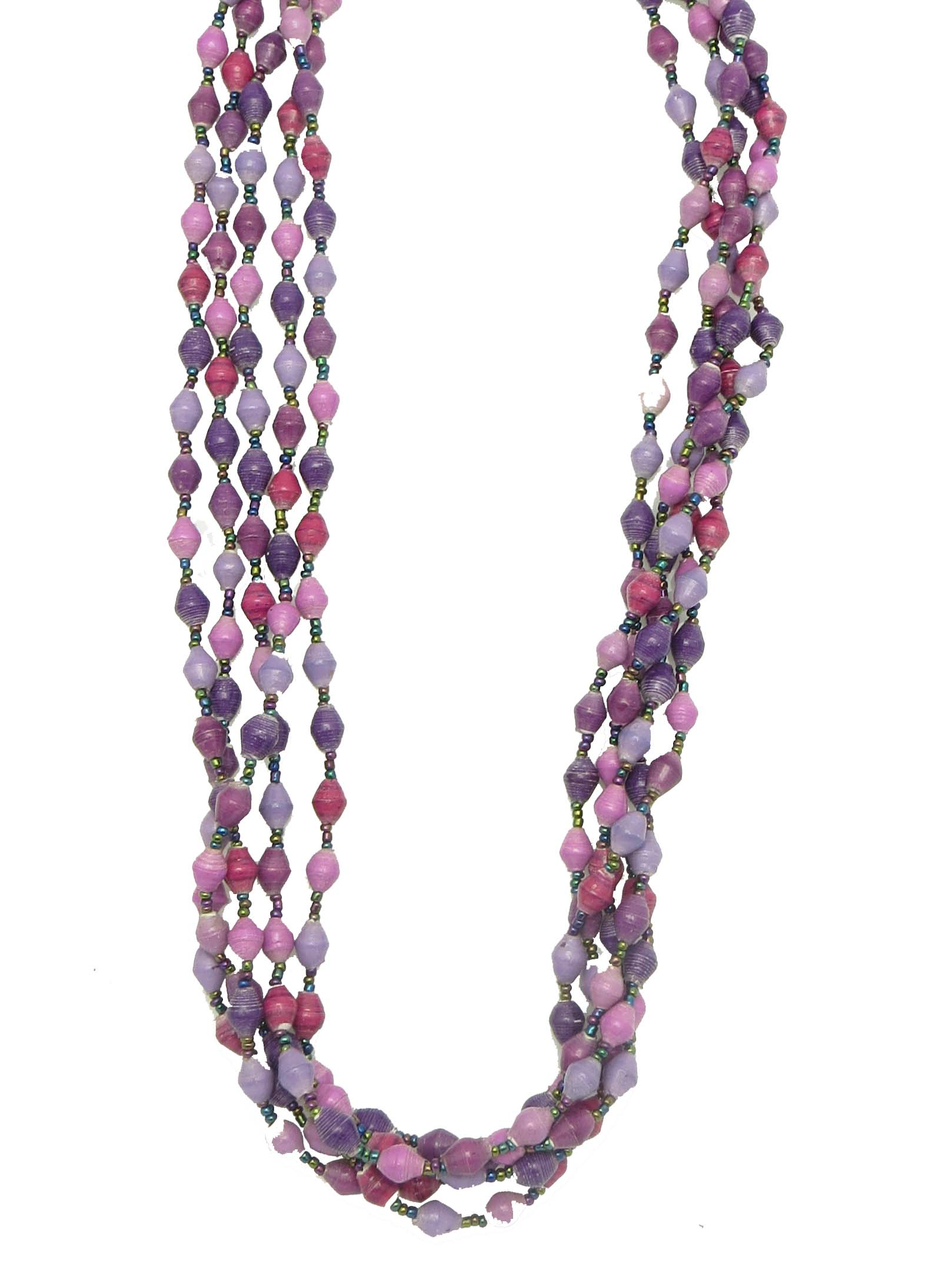 5-strand necklace - shades of purple